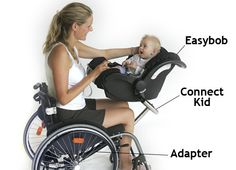 Baby seat for parent in wheelchair - could also be used to hold basket for carrying items to and from the pantry or cabinets Occupational Therapy, Physical Therapy, Wheelchair Accessories, Adaptive Equipment, Adaptive Sports, Mobility Aids, Ehlers Danlos Syndrome, Assistive Technology, Crps