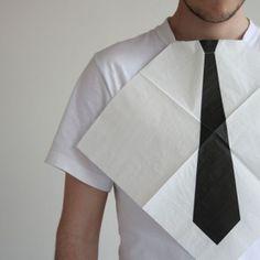 Paper napkin or tie? :)