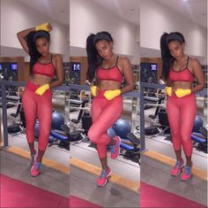 Work it out! @angelasimmons in head-to-toe @prismsport #liveinprism #fitspo