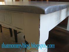 """That Mommy Blog: Ballard Designs Knockoff: DIY """"Zinc"""" Table"""