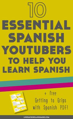YouTube is packed with videos to help you learn Spanish. Here's 10 of my favourite Spanish YouTubers to help you learn Spanish + a free Vocab Starter Guide!
