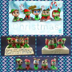 3d printed Christmas elf's get the set @Titodidit.com
