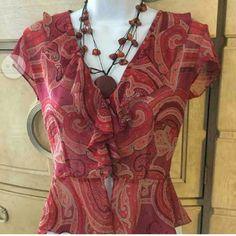 Victoria  Secret  blouse #2 100% polyester  ruffled neck line blouse Victoria's Secret Tops Blouses