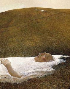 """Spring"" (detail), 1978, Andrew Wyeth."
