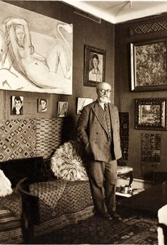 Henri Matisse, 1932, Nice, France, photograph by Albert Eugene Gallatin