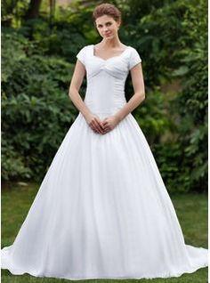 acb5afa70ed Ball-Gown Sweetheart Chapel Train Taffeta Wedding Dress With Ruffle Beading  ... base
