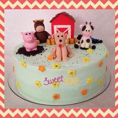 Torta de la Granja! 🐮🐴🐷🐶 #farmcake #tortagranja
