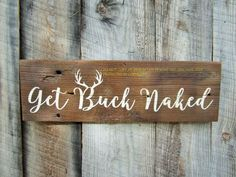 Get Buck Naked Sign