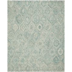 Ikat Ivory U0026 Blue Area Rug