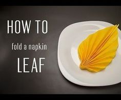 Learn how to fold a napkin into a Leaf from a paper napkin. You can also use sta., Learn how to fold a napkin into a Leaf from a paper napkin. You can also use sta., paper paper napkins paper to the moon Serviettes Roses, Paper Serviettes, Linen Napkins, Cloth Napkins, Thanksgiving Napkin Folds, Paper Napkin Folding, Folding Napkins, Simple Napkin Folding, How To Fold Napkins