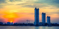 Riverside Sunset in Bangkok_ Thailand