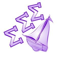 The sailboat is the symbol of Sigma Sigma Sigma. :)