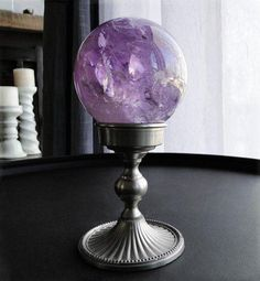 Divination:  Amethyst #Crystal #Ball.