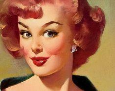 "16x20 /""Everything Seems Awfully High/"" 1946 Waitress Elvgren Pin-Up Girl Poster"