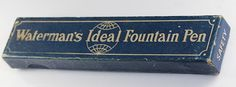 Waterman Vintage Fountain Pen Box Blue Box French Safety Pen w16340