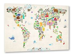 Animal Map of the World I