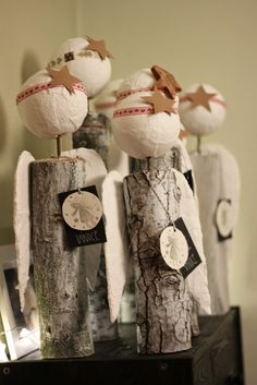 U nás na kopečku Primitive Christmas, Christmas Tag, Christmas Angels, All Things Christmas, Decor Crafts, Diy And Crafts, Diy Angels, Angel Crafts, Craft Show Ideas