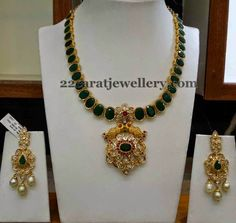 Jewellery Designs: Elegant Necklace by Srimahalakshmi Jewels