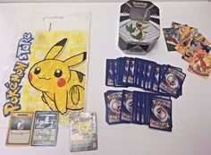 Pokemon Snivy TCG Tin With 154 Pokemon Trading Cards And 10 Movie Cards And Bag #Pokemon