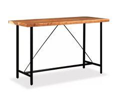 Nakupte vidaXL Barový stůl z masivního sheeshamového dřeva 180 x 70 x 107 cm online |vidaXL.cz Wooden Bar Table, Bar Table And Stools, Outdoor Bar Table, Table Bar, Table Haute, Love Your Home, Vintage Bar, Bar Set, Cool Bars