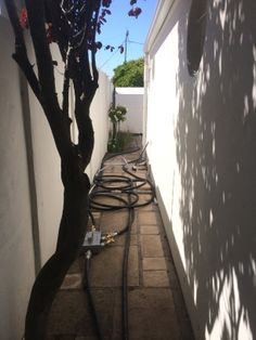 Instead of digging up tile and landscaping in back yards, the patented Nu Line process uses blown-in technology to rehabilitate pipes in-place (without destruction.)