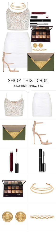 """""""Untitled #1501"""" by fabianarveloc on Polyvore featuring New Look, Topshop, Dareen Hakim, Giuseppe Zanotti, Chanel, By Terry, Kenneth Jay Lane and Versace"""