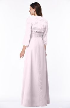 Blush Modest Strapless Zip up Floor Length Lace Mother of the Bride Dresses