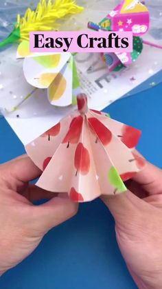 Easy Crafts For Kids Fun, Diy Crafts For Adults, Fun Diy Crafts, Diy For Kids, Paper Crafts Origami, Origami Art, Diy Paper, Paper Crafting, Diy School Supplies