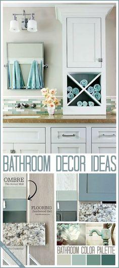 Bathroom Decor Ideas and Design Tips at the36thavenue.com #home