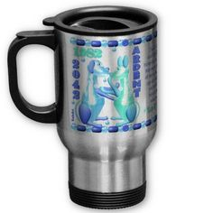 ValxArt 1982 2042 zodiac water dog born in Libra Mug by valxart for $21.95  is one of 720  designs for the 60 years of the Chinese zodiac combined with each of 12 zodiac designs and forecast each used on several products . Valxart also has 12 zodiac cusp and 60 years of chinese zodiac. If you do not see desired year and zodiac sign contact info@valx.us for links to desired images. our stainless steel travel/commuter mug is  spill-proof mug that has a removable plastic top