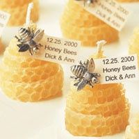 These elegant beeswax candles can be made quickly and easily with just a few materials from your craft store. This project is from the book Beautiful Wedding Receptions (Leisure Arts Book #15890). You will find more creative favor ideas in our books Favors (Leisure Arts Book #3390) and Creative Wedding Keepsakes (Leisure Arts Book #15904). craft-project-ideas