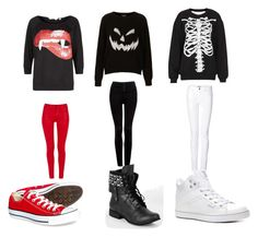"""""""halloweennnnnnnn"""" by nehirsanlidag ❤ liked on Polyvore featuring Tee and Cake, Topshop, Burberry, Forever New, J Brand, Pastry, Not Rated and Converse"""