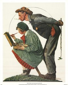 Norman Rockwell-The Poster by Rockwell, Norman: Unsigned - Art Wise Peintures Norman Rockwell, Norman Rockwell Art, Norman Rockwell Paintings, American Illustration, Illustration Art, Ligne Claire, Art Japonais, Illustrations, Famous Artists