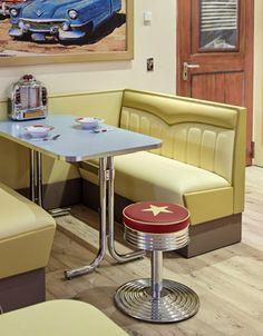 Popular Diner M bel im american Diner Style Dinerb nke Tische oder Theken online kaufen