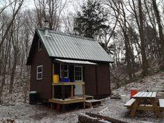Matt's 12' by 16' cabin in northern Michigan. | www.facebook.com/aplaceinnature