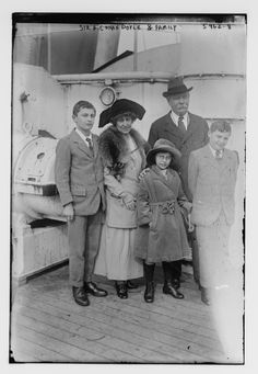 Sir Arthur Conan Doyle and family.