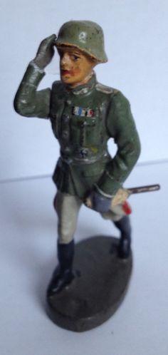 Lineol Hausser Elastolin Persönlichkeit General Offizier 1x m. bewgl. Arm   eBay