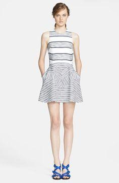 3.1 Phillip Lim Chevron Detail Full Skirt Dress | Nordstrom