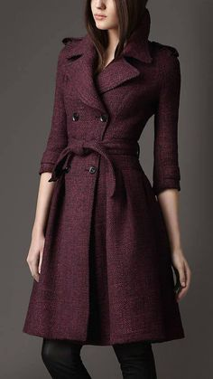 Fitted Burgundy Coat