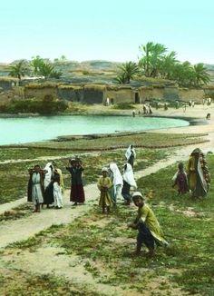 أسدود، فلسطين ١٨٨٠ * صورة تم تلوينها   Asdod, Palestine 1880 * the photo had been colored    Asdod, Palestina 1880 * La foto había sido colorada