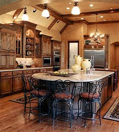French Country Home Plans with Majestic French Kitchen Design