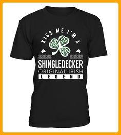 Kiss Me I am a SHINGLEDECKER Original Irish Legend - Shirts für singles (*Partner-Link)