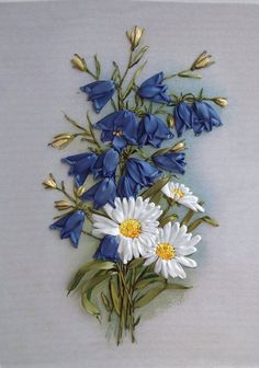 Silk Ribbon Embroidery. Beuatiful work with link to online store Салон «Шелковая лента»