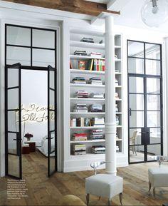 Image result for steel doors elle decor