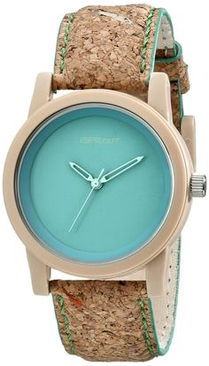 Watch: This eco-friendly watch ($34) has a natural cork strap with organic cotton backing and green stitching.