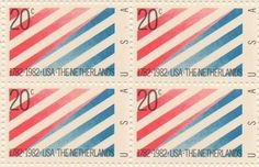 US-Netherlands Set of 4 x 20 Cent US Postage Stamps NEW Scot 2003 . $8.95. One set of four (4) US-Netherlands 4 x 20 Cent postage stamps Scot #2003