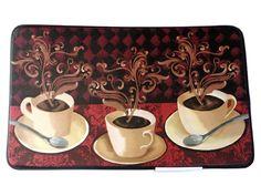 Coffee Cups Memory Foam Kitchen Rug 29 95