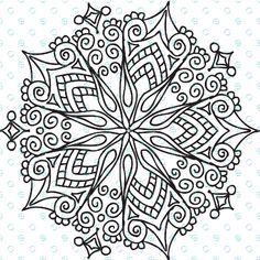 Silkscreen Stencil Star Filigree Mandala for Polymer Clay and Mixed Media