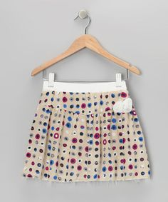 Cream & Burgundy Polka Dot Skirt - Girls by Mikko Kids on #zulilyUK today!