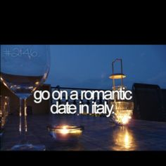 Go on a romantic date in Italy